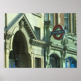 Untergrund-Station, London, England - Poster