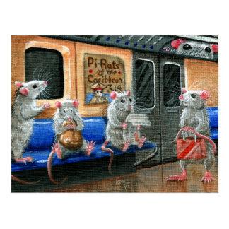 Untergrundbahn-Ratten-Postkarte Postkarte