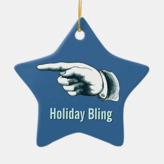 Unterhaltende Weihnachtsbaum-Verzierung Keramik Stern-Ornament
