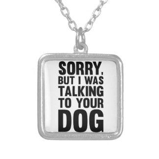 Unterhaltung mit Ihrem Hund Versilberte Kette