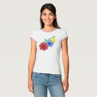 Unterhemd T-shirt Flowers Flores