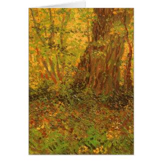 Unterholz durch Vincent van Gogh Grußkarte