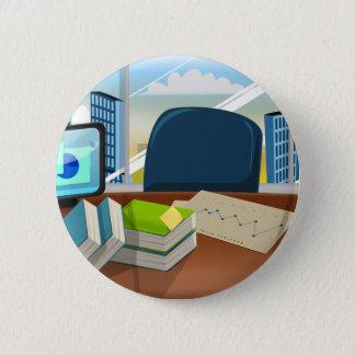 Unternehmensbanker-Büro Runder Button 5,7 Cm