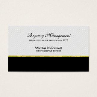Unternehmensgold Visitenkarte