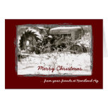 Unternehmenstraktor-Weihnachtskarte Grußkarten