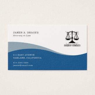 UnternehmensVisitenkarte: Blaue Welle Visitenkarte