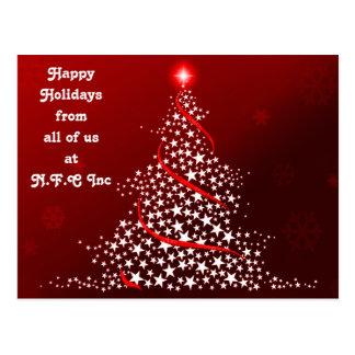 Unternehmensweihnachtsgruß-Postkarten Postkarte