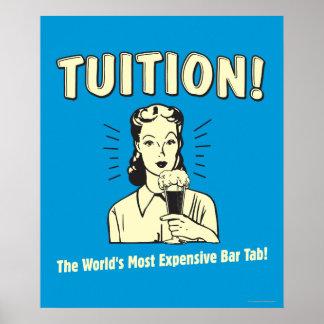 Unterricht: Der meiste teure Bar-Vorsprung Poster