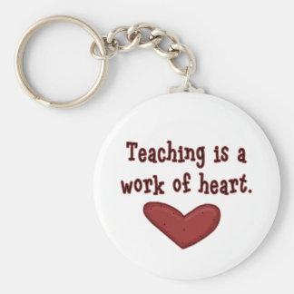 Unterricht ist eine Arbeit der Herz-T-Shirts und Schlüsselanhänger