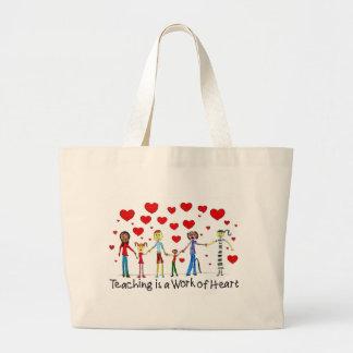 Unterricht ist eine Arbeit der Herz-Taschen-Tasche