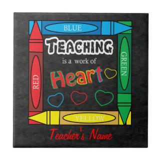 Unterricht ist eine Arbeit des Herzens Kleine Quadratische Fliese