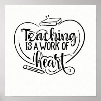 Unterricht ist eine Arbeit des Poster