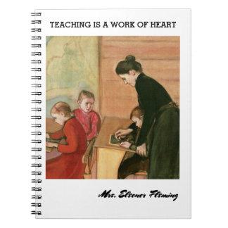 Unterricht ist eine Arbeit des Spiral Notizblock