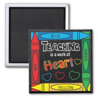 Unterricht ist eine Arbeit von Herz Quadrat Quadratischer Magnet
