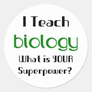 Unterrichten Sie Biologie Runder Aufkleber