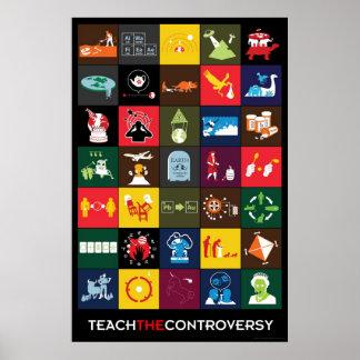 Unterrichten Sie das Kontroversen-Plakat