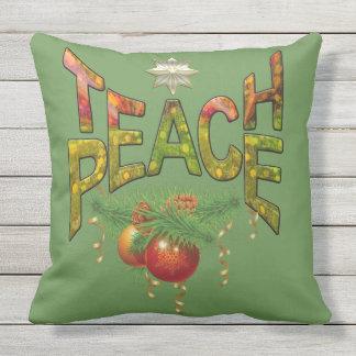 Unterrichten Sie Frieden Kissen
