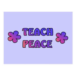 Unterrichten Sie Frieden Postkarte