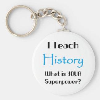 Unterrichten Sie Geschichte Standard Runder Schlüsselanhänger
