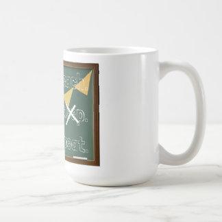 Unterrichten Sie. Kaffee. Wiederholung. Tasse