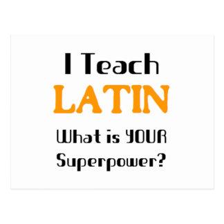 Unterrichten Sie Latein Postkarten