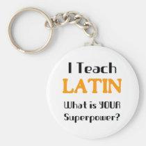 Unterrichten Sie Latein Standard Runder Schlüsselanhänger