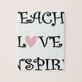 unterrichten Sie Liebe inspirieren Puzzle