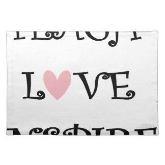 unterrichten Sie Liebe inspirieren Stofftischset
