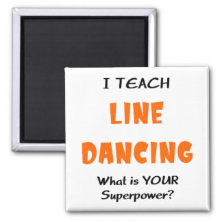 unterrichten Sie Linie Tanz Quadratischer Magnet