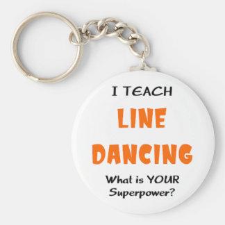 unterrichten Sie Linie Tanz Schlüsselanhänger