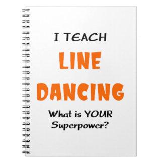 unterrichten Sie Linie Tanz Spiral Notizblock