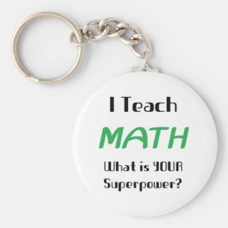 Unterrichten Sie Mathe Standard Runder Schlüsselanhänger