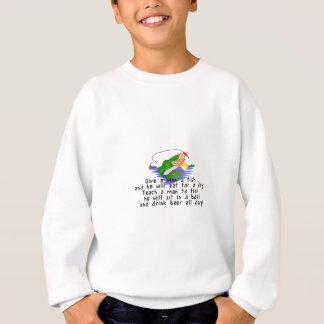 Unterrichten Sie, um zu fischen Sweatshirt