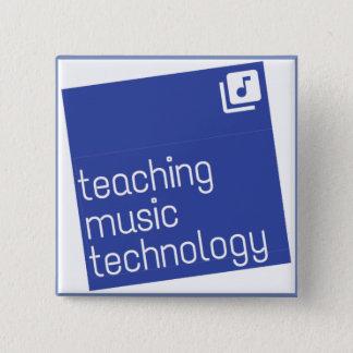 """Unterrichtende Musik-Technologie: Quadrat 2"""" Knopf Quadratischer Button 5,1 Cm"""
