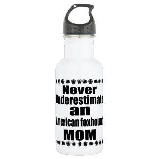 Unterschätzen Sie nie amerikanischer Foxhound Trinkflasche