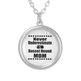 Unterschätzen Sie nie Basset Hound-Mamma Versilberte Kette