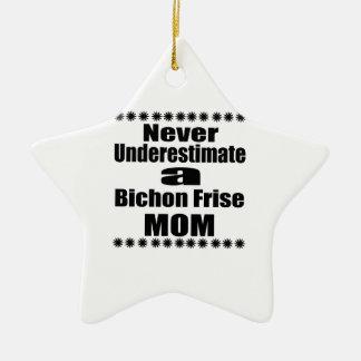 Unterschätzen Sie nie Bichon Frise Mamma Keramik Ornament