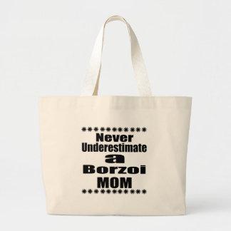 Unterschätzen Sie nie Borzoi-Mamma Jumbo Stoffbeutel