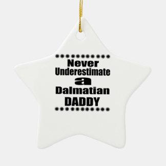 Unterschätzen Sie nie dalmatinischen Vati Keramik Stern-Ornament