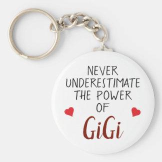 Unterschätzen Sie nie GiGi personalisiertes Schlüsselanhänger