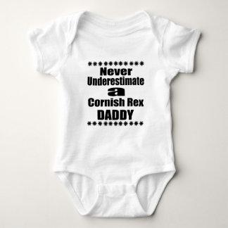 Unterschätzen Sie nie kornischen Rex Vati Baby Strampler