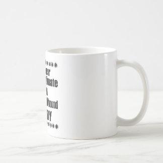 Unterschätzen Sie nie Norweger Elkhound Vati Kaffeetasse
