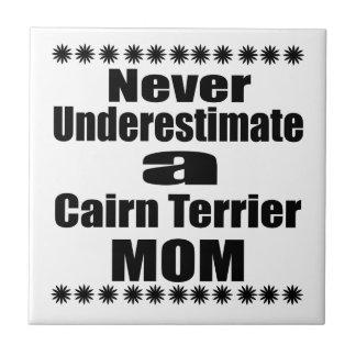 Unterschätzen Sie nie Steinhaufen-Terrier-Mamma Keramikfliese