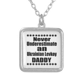 Unterschätzen Sie nie Ukrainer Levkoy Vati Versilberte Kette