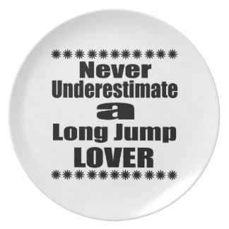 Unterschätzen Sie nie Weitsprung-Liebhaber Melaminteller