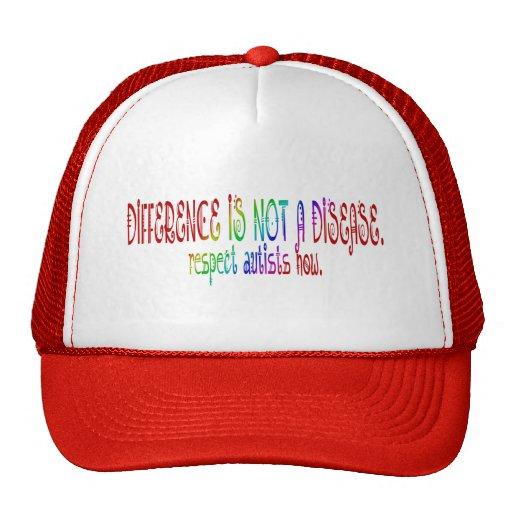 Unterschied ist nicht eine Krankheits-Hüte Trucker Mütze