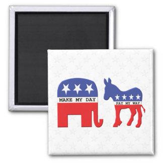 Unterschied zwischen den Republikanern und Quadratischer Magnet