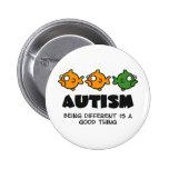Unterschiedlich sein - Autismusentwurf Runder Button 5,1 Cm
