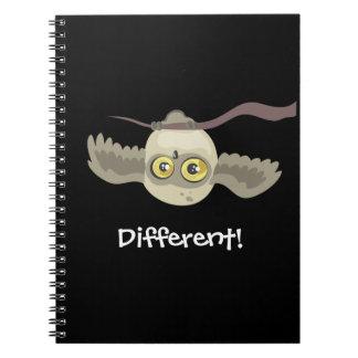 Unterschiedlich! Umgedrehte Eule! ~notebook Spiral Notizblock