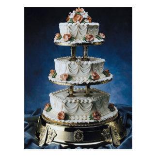 Unterschiedliche Schicht-Hochzeitstorte Postkarten